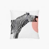 Poszewka, bawełna, Zebra, 38x38 cm