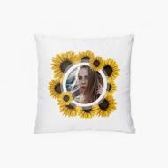 Poduszka, bawełna, Słoneczniki, 38x38 cm