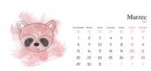 Kalendarz, Dziecięcy ze zwierzątkami, 22x10 cm