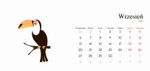 Kalendarz, Zwierzątka, 22x10 cm
