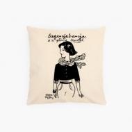 Poduszka, bawełna ekologiczna, Kolekcja Porysunki - Elegancja Francja, 40x40 cm