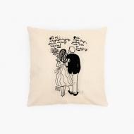 Poduszka, bawełna ekologiczna, Kolekcja Porysunki - O to ON, 40x40 cm