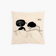 Poduszka, bawełna ekologiczna, Kolekcja Porysunki - Znowu Ty, 40x40 cm
