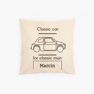 Poduszka, bawełna ekologiczna, Classic man, 40x40 cm