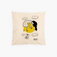 Poduszka, bawełna ekologiczna, Kolekcja Porysunki - Love of my life, 40x40 cm