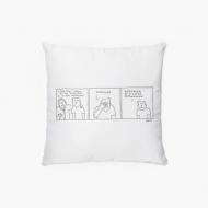 Poduszka, bawełna, Kolekcja Bazgram - Weekend, 38x38 cm