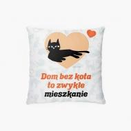 Poduszka, bawełna, Kolekcja Typowy Kot - Dom bez kota, 38x38 cm