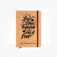 Notes korkowy Love forever, 14x21 cm