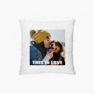 Poduszka, aksamit, This is Love, 38x38 cm