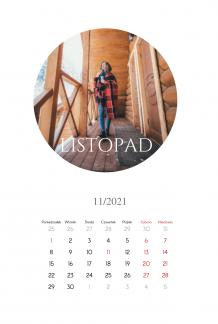 Kalendarz, Zdjęcia w kołach, 20x30 cm