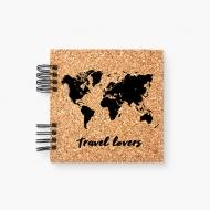 Album korkowy Travel lovers, 20x20 cm