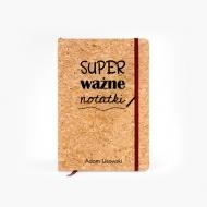 Notes korkowy Ważne notatki, 14x21 cm