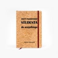 Notes korkowy Zeszyt studenta, 14x21 cm
