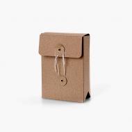 Koperta na zdjęcia, Brązowa ze sznurkiem , 12x17 cm