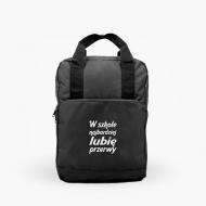 Plecak z rączkami W szkole najbardziej lubię przerwy
