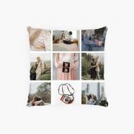Poszewka, bawełna ekologiczna, Instagramowa, 38x38 cm