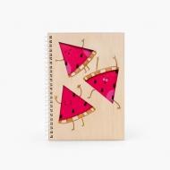 Notes drewniany Hello Summer, 15x21 cm