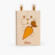 Notes drewniany Królik, 15x21 cm