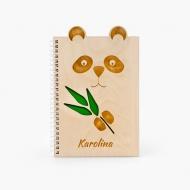 Notes drewniany Panda, 15x21 cm