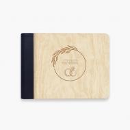 Album drewniany Żyli długo i szczęśliwie , 18x14 cm