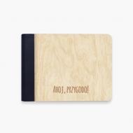 Album drewniany Ahoj przygodo, 18x14 cm