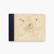 Album drewniany Astronauta, 18x14 cm