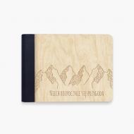 Album drewniany Niech rozpocznie się przygoda, 18x14 cm