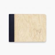 Album drewniany Pinky promise, 18x14 cm