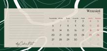 Kalendarz, Kolekcja by CookieMint - Dark Green - kalendarz biurkowy, 22x10 cm
