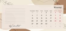 Kalendarz, Kolekcja by CookieMint - Rustical Orange - kalendarz biurkowy, 22x10 cm