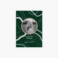 Notes Kolekcja By CookieMint - Dark Green - linie, 15x21 cm