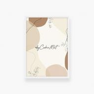 Plakat w ramce, Kolekcja By CookieMint - Rustical Orange - biała ramka, 20x30 cm