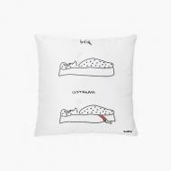 Poduszka, bawełna, Kolekcja Kura rysuje - Śpię, wstałam, 38x38 cm