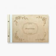 Album drewniany Chrzest Święty, 34x23 cm