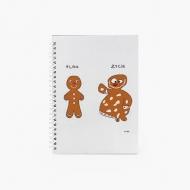 Notes Kolekcja Kura rysuje - Ciastek - kratka, 15x21 cm