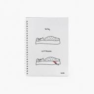 Notes Kolekcja Kura rysuje - Śpię, wstałam - kratka, 15x21 cm