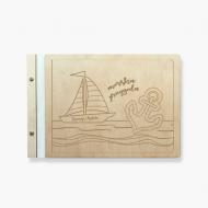 Album drewniany Morska przygoda, 34x23 cm