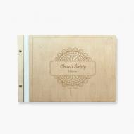 Album drewniany Ozdobny, 34x23 cm