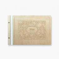 Album drewniany Rośliny, 34x23 cm