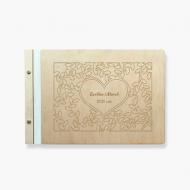 Album drewniany Serce, 34x23 cm