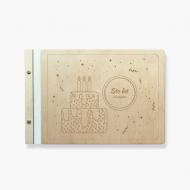 Album drewniany Tort, 34x23 cm