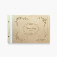Album drewniany Twój tekst, 34x23 cm