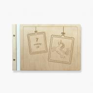 Album drewniany Urodzinowy, 34x23 cm