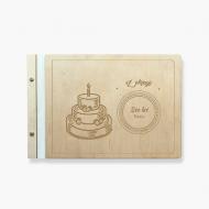 Album drewniany Urodziny, 34x23 cm