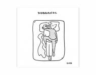 Magnes Kolekcja Kura rysuje - Dobranoc, 9x9 cm
