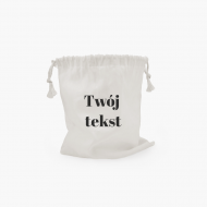 Worek bawełniany Twój tekst, 25x30 cm