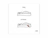 Magnes Kolekcja Kura rysuje - Śpię, wstałam, 9x9 cm