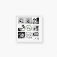 Plakat w ramce, Baby wreath - biała ramka, 40x40  cm