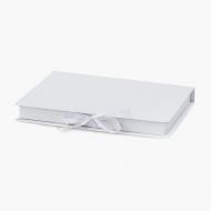 Pudełko na fotoksiażkę, 20x30/30x20 białe ekoskóra, 24x33 cm