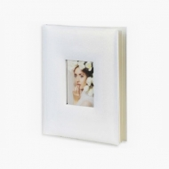 Album na zdjęcia Wklejany opalizujący biały - 80 zdjęć, 25x30 cm